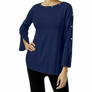 Alfani Embellished Pullover Sweater Andromeda S